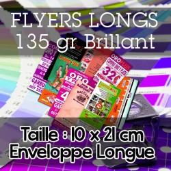 Flyers Longs Enveloppe - 10x21 cm