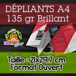 Dépliants A4 - 135 gr brillant