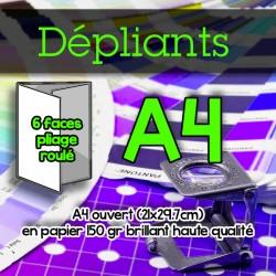 Dépliants A4 - 150 gr brillant